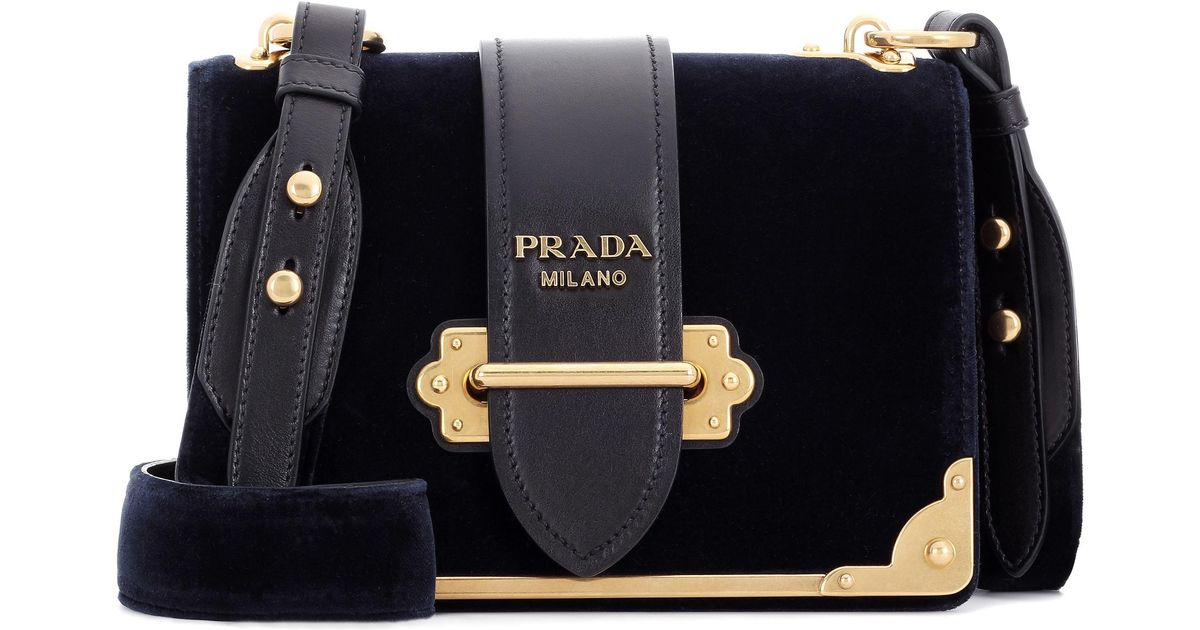 Free Shipping Amazing Price Free Shipping Clearance Store Prada Cahier Velvet Handbag Outlet Footaction ooSNemI