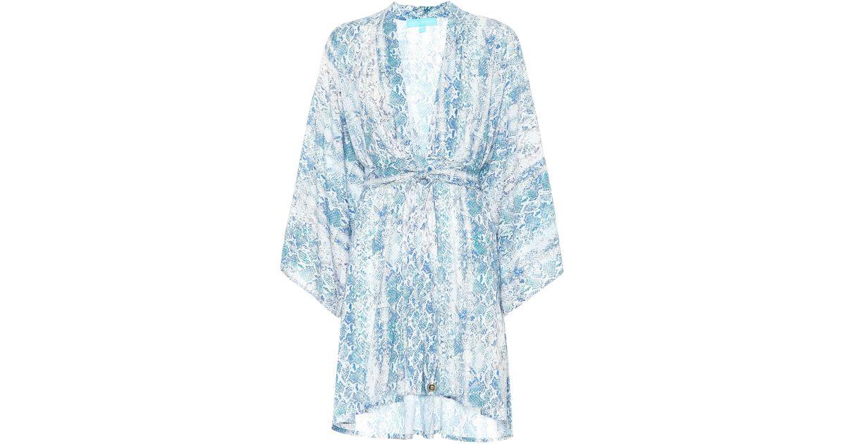 f0beb665fe6b Lyst - Melissa Odabash Eloise Printed Minidress in Blue
