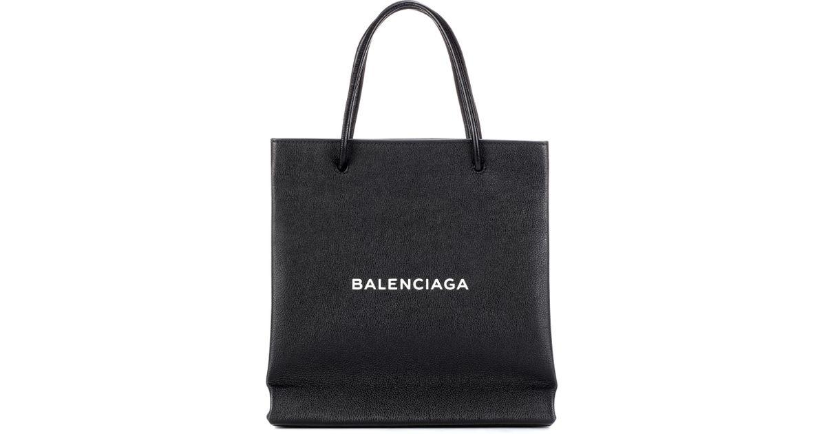 Shopping Imprimé Sac Balenciaga Lyst Black En Cuir Paper WDYH2E9I