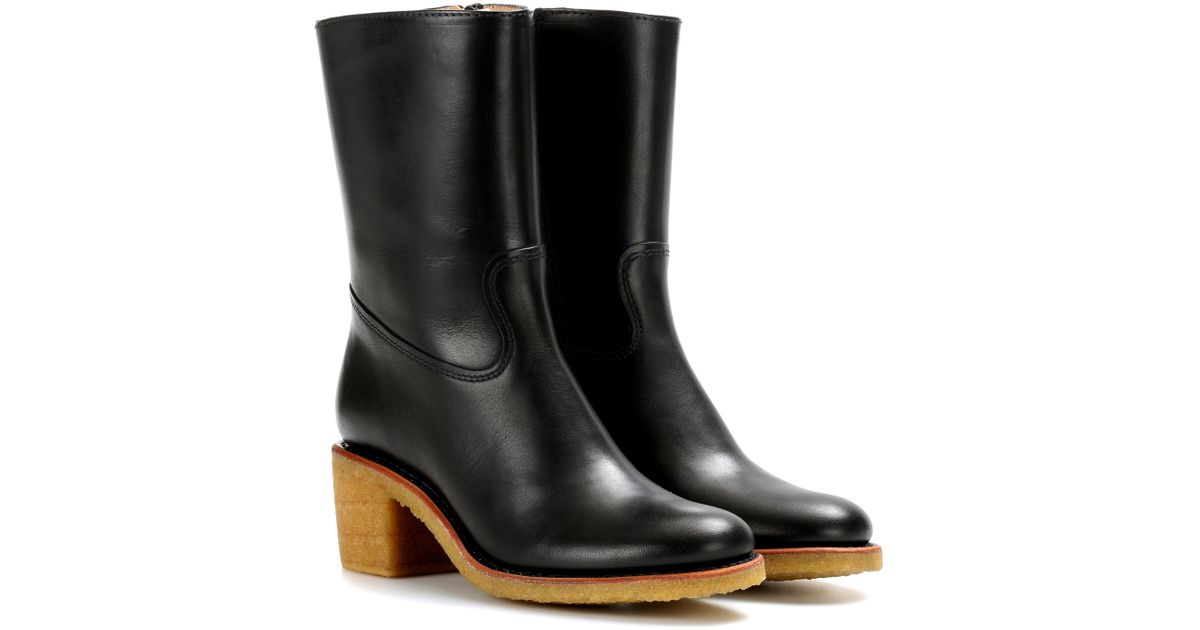 quality outlet store A.P.C. Leather Knee-High Boots prices cheap online J5hU8l3u