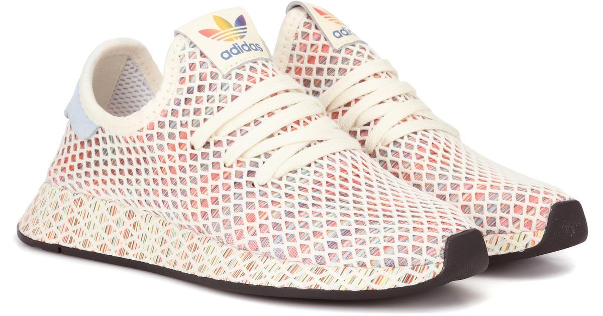 9fd0bea5e adidas Originals Deerupt Pride Knitted Sneakers in Pink - Lyst