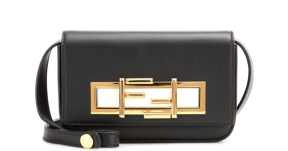 c7f3d68bc9 Lyst - Fendi Mini 3baguette Leather Shoulder Bag