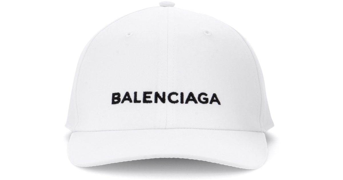 79975e7cd18 Lyst - Balenciaga Baseball Cap in White