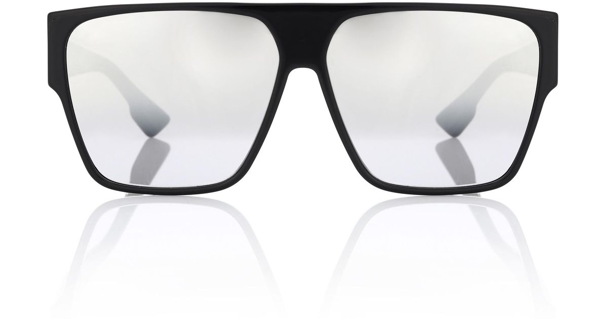 2dde7e5902751 Lyst - Dior Dior Hit Rectangular Sunglasses in Black