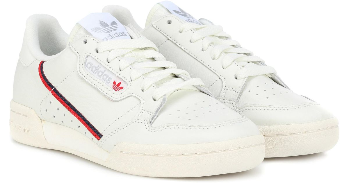 Continental 80 Grosgrain-trimmed Leather Sneakers - White adidas Originals gqp6uK31