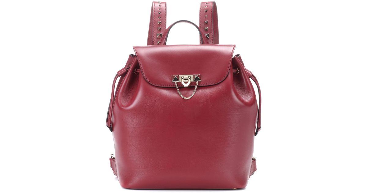 Garavani Demilune Medium leather backpack Valentino X15gqtG9