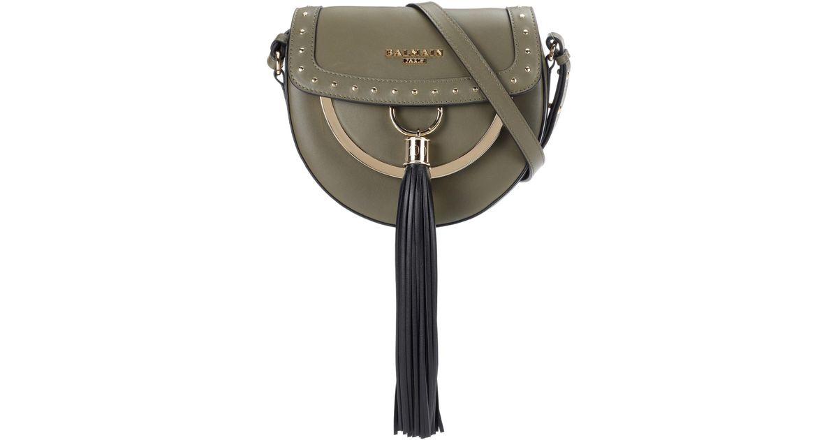 Domaine 18 leather shoulder bag Balmain hDDPi3YS
