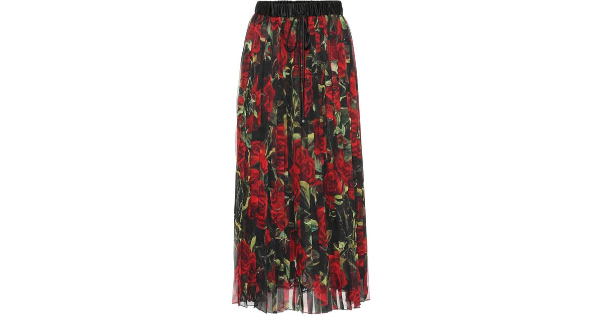 Mezcla Lyst Seda amp; Gabbana Floral Dolce De Falda qBBCwp