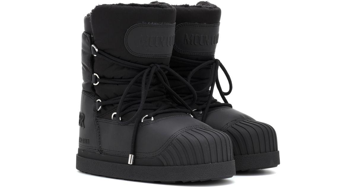 07c338e28504 Lyst - Moncler X Moon Boot® Uranus Ankle Boots in Black