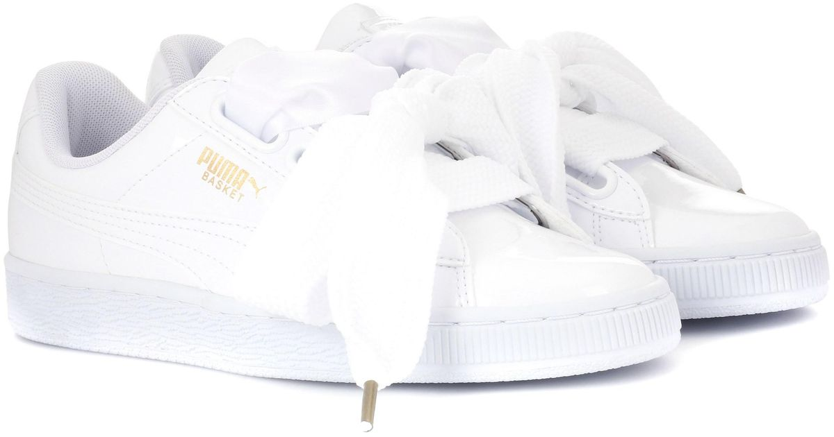 promo code 93418 78393 PUMA - White Basket Heart Patent Sneakers - Lyst