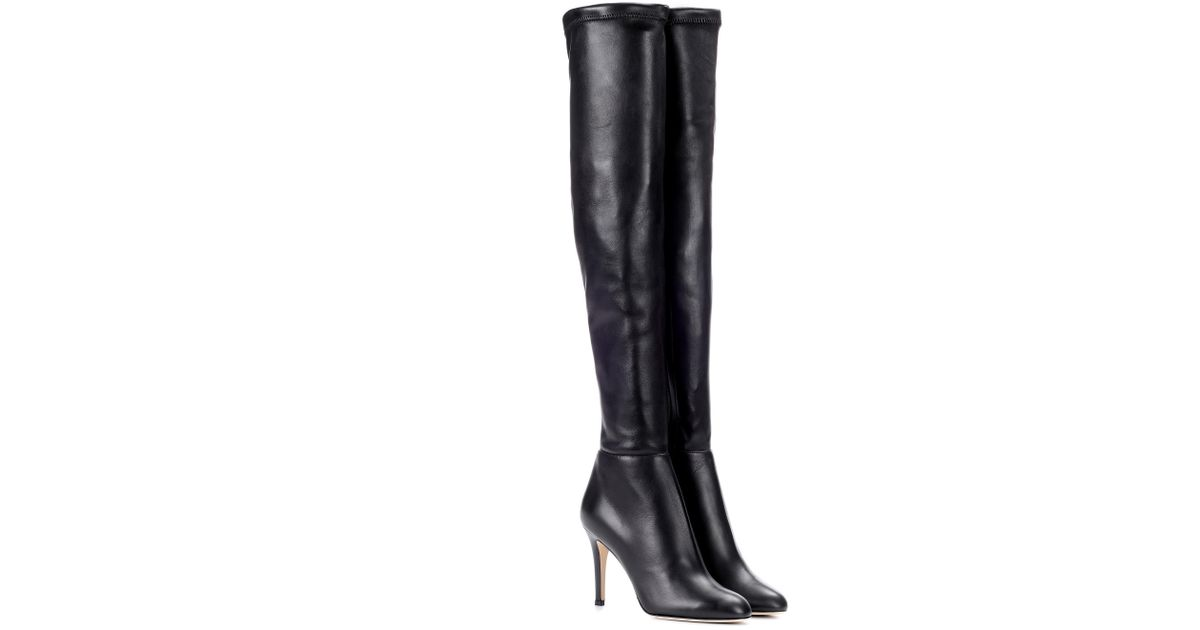 9465cb34ee Jimmy Choo Toni Leather Over-the-knee Boots in Black - Lyst