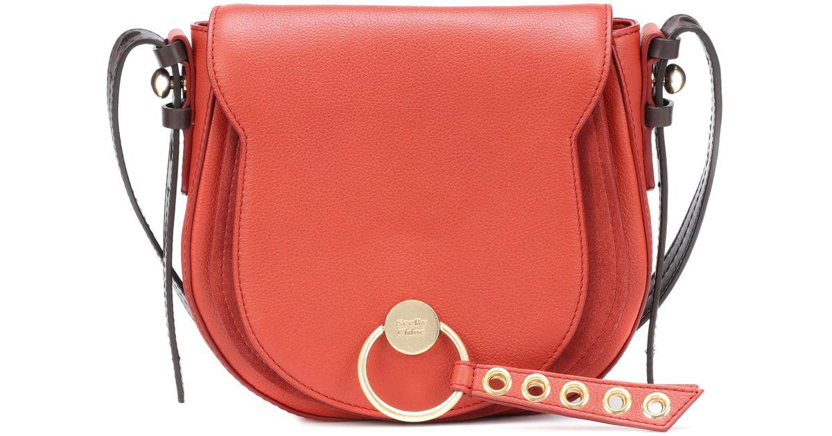 035e798777 à cuir Rouge bandoulière Lumir en By en Large coloris Sac Chloé See ...
