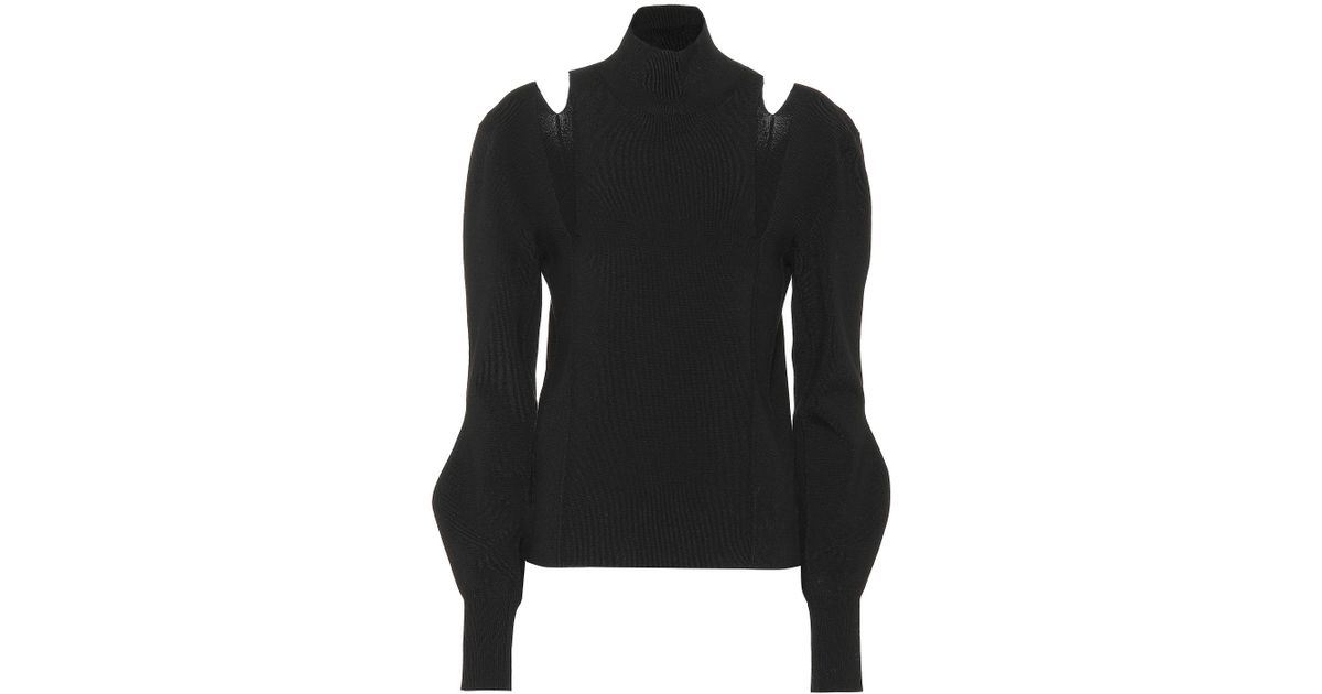 purchase cheap 7f060 c3ba6 chloe-black-Cut-out-Wool-blend-Sweater.jpeg