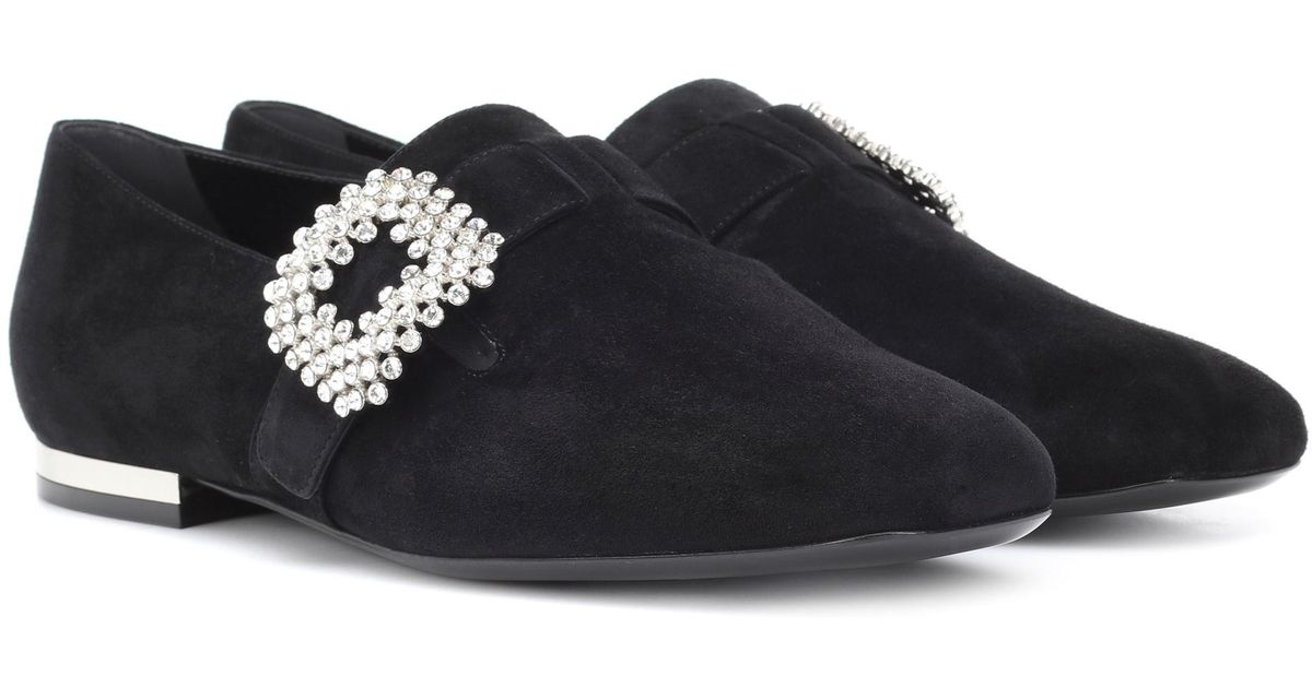 pretty nice fb537 99221 roger-vivier-black-Diadem-Suede-Loafers.jpeg