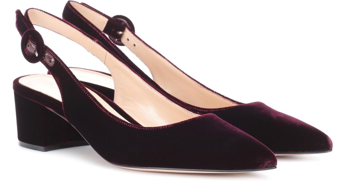 Exclusive to mytheresa.com - Amee velvet slingback pumps Gianvito Rossi 6rEFFM