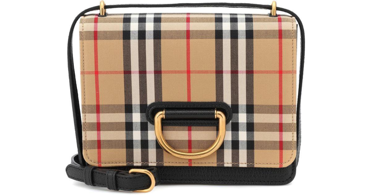 7fbb3dabb153 Lyst - Burberry Small Vintage Check Crossbody Bag in Black