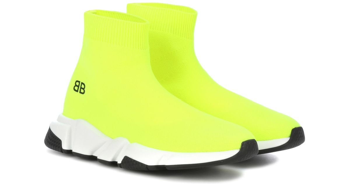 Lyst - Balenciaga Kids  Speed Trainer Sneakers in Yellow a832ce655157