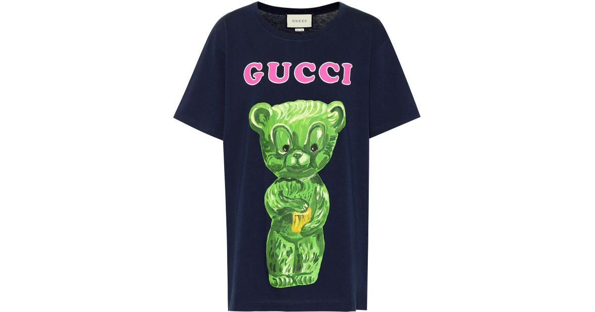 c07b671b Gucci Gummy Bear Cotton T-shirt in Blue - Lyst