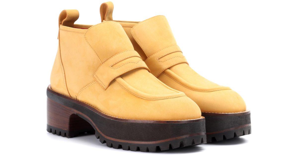Sies marjan Jane suede platform ankle boots FpYl7