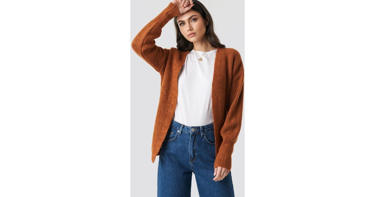 70af28310fa4e7 Lyst - Trendyol Milla Knitted Cardigan Tobacco in Brown