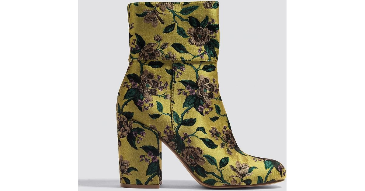 0c0ced38b06 Lyst - Steve Madden Goldie Ankleboot Yellow Multi