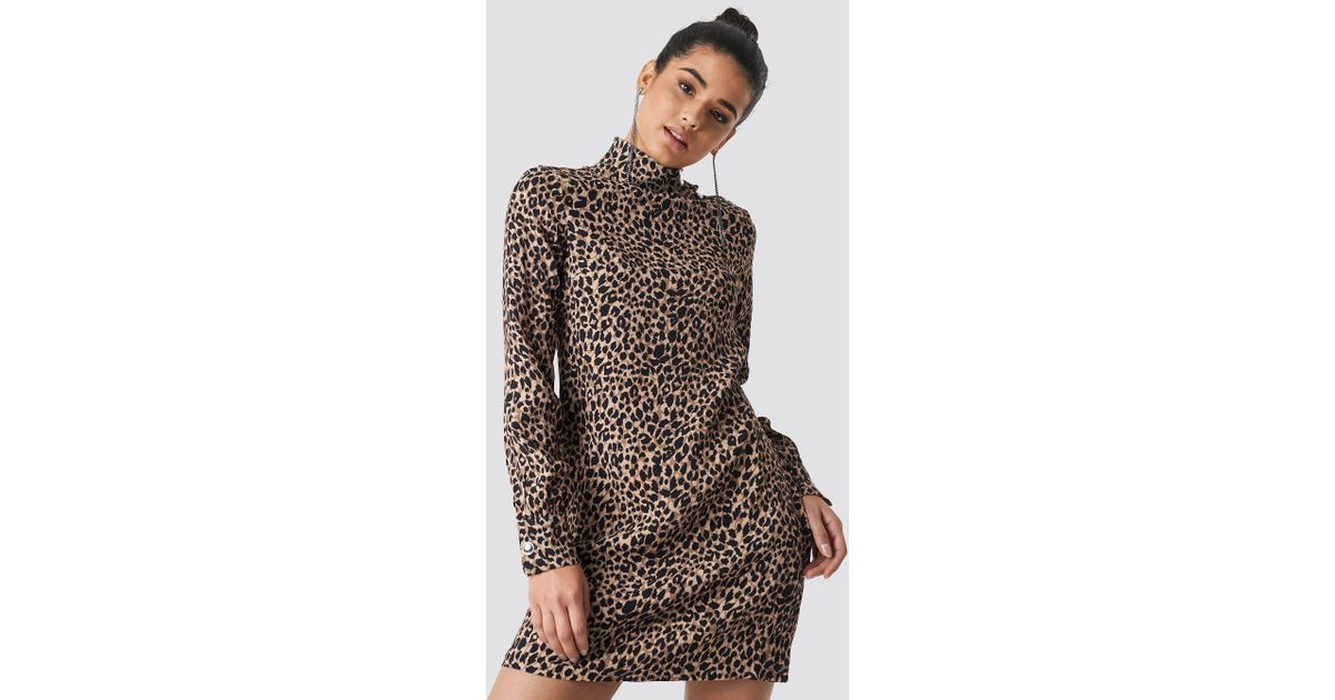 700245d0823d Lyst - Trendyol Leo Patterned Midi Dress Multicolor