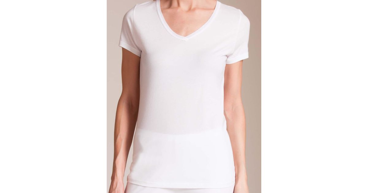 c13e4c103db2 Lyst - Skin 365 Superfine V-neck T in White