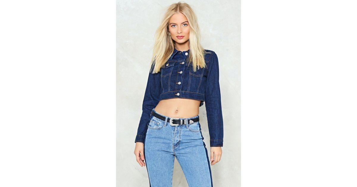 6e8cda16e2272 Lyst - Nasty Gal Indigo Contrast Stitch Denim Jacket Indigo Contrast Stitch Denim  Jacket in Blue