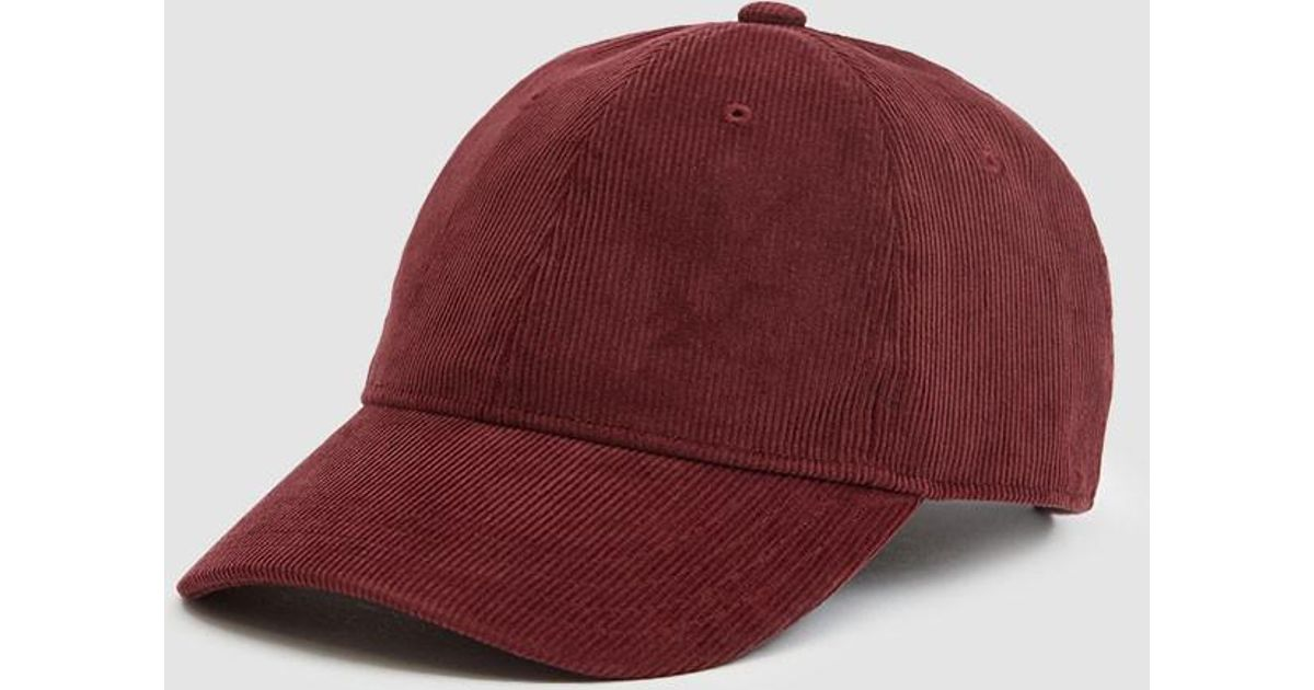 ce7e56d51e7 Lyst - Carhartt WIP Manchester Corduroy Cap in Red for Men