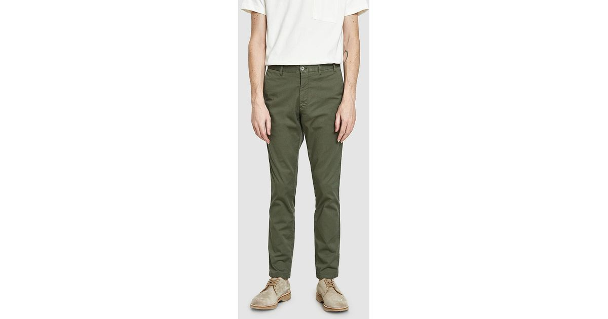1e17e55350 Norse Projects Aros Slim Light Stretch Pant in Green for Men - Lyst