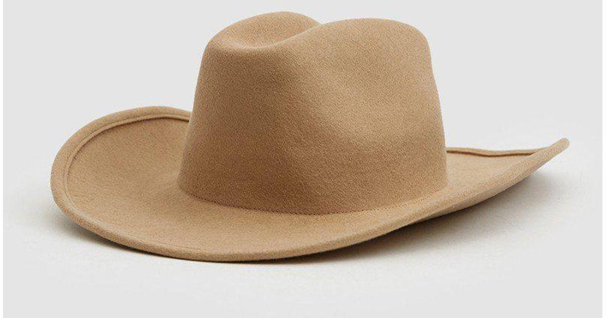 ea841dca6f5db Clyde Felt Cowboy Hat in Natural - Lyst