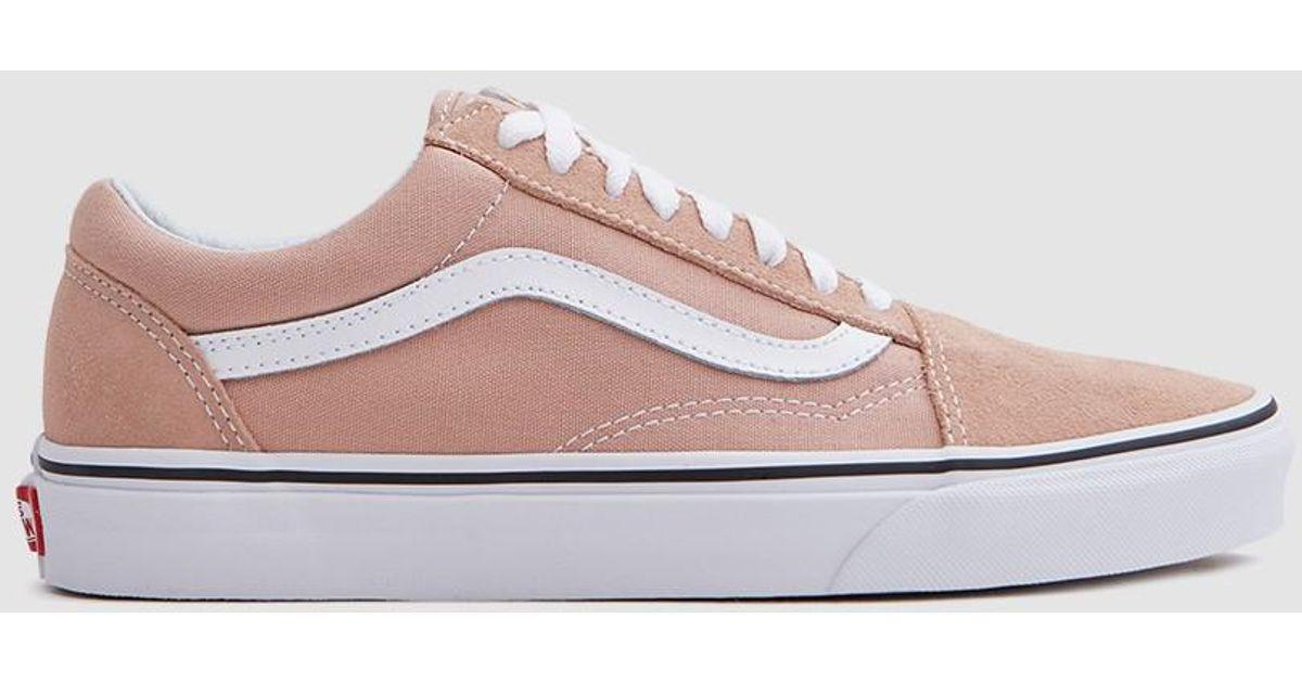 b51ad6ec05 Lyst - Vans Old Skool In Mahogany Rose true White in Pink