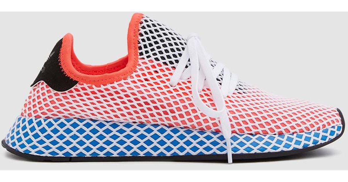 quality design c87cd bdf88 adidas-Solar-RedSolar-RedBluebird-Deerupt-Runner-Sneaker-In-Solar-Red.jpeg