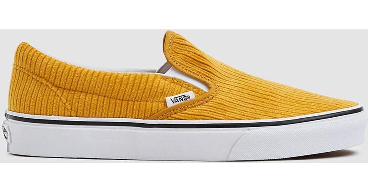 8189233edd Vans Corduroy Slip-on Design Assembly Sneaker in Yellow - Lyst