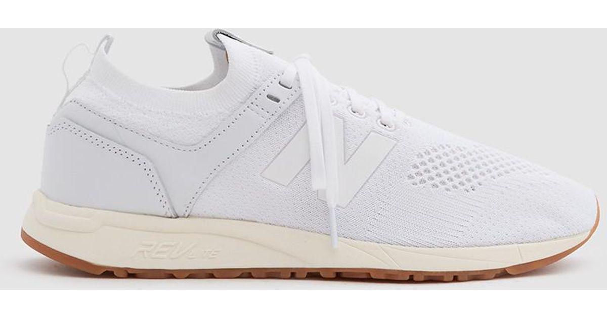 New Balance 247 Decon Sneaker In White Knit for men