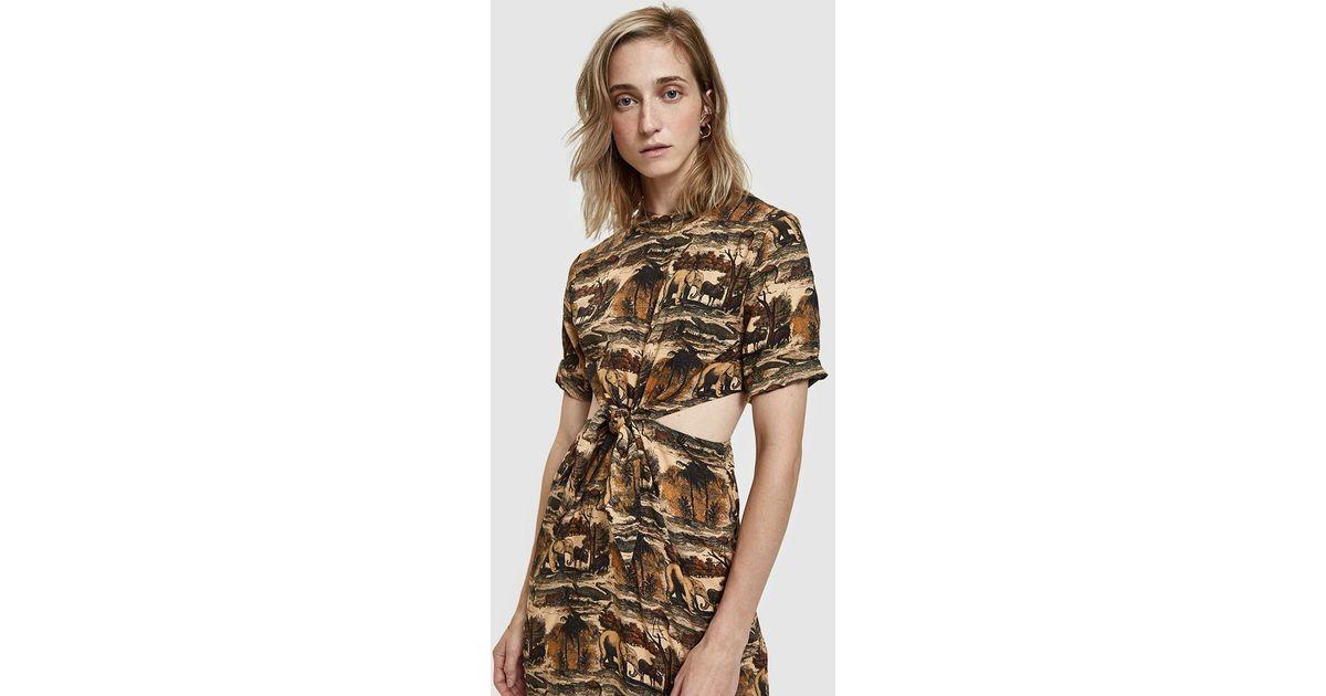 20abf358def Nanushka Bhumi Jungle Print Dress - Lyst