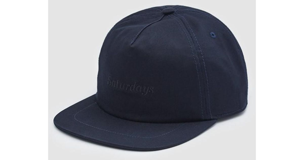 Lyst - Saturdays NYC Stanley Italics Hat In Midnight in Blue for Men 63e688722