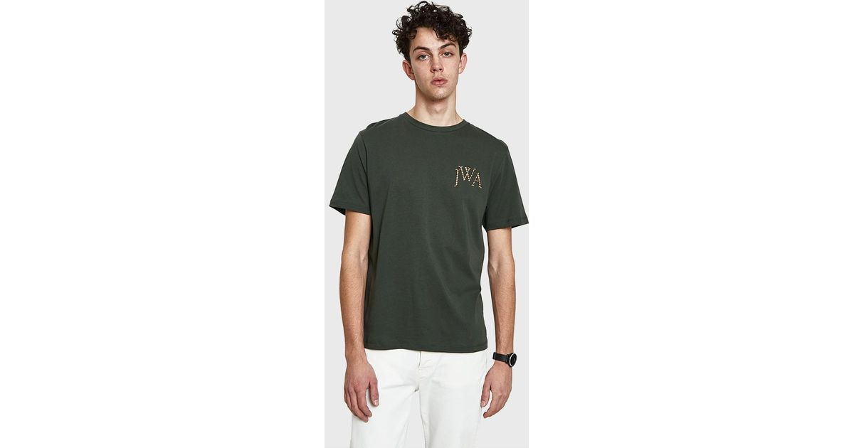 9931d49b8 JW Anderson Jwa Logo T-shirt In Military Green in Green for Men - Lyst