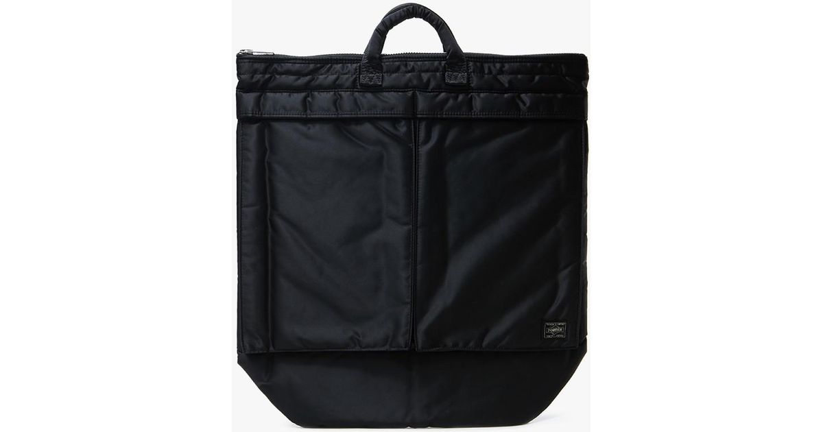 ... Porter Tanker 2way Helmet Bag in Black - Lyst official photos 1714a  14b73 ... 329e7a49f8d56