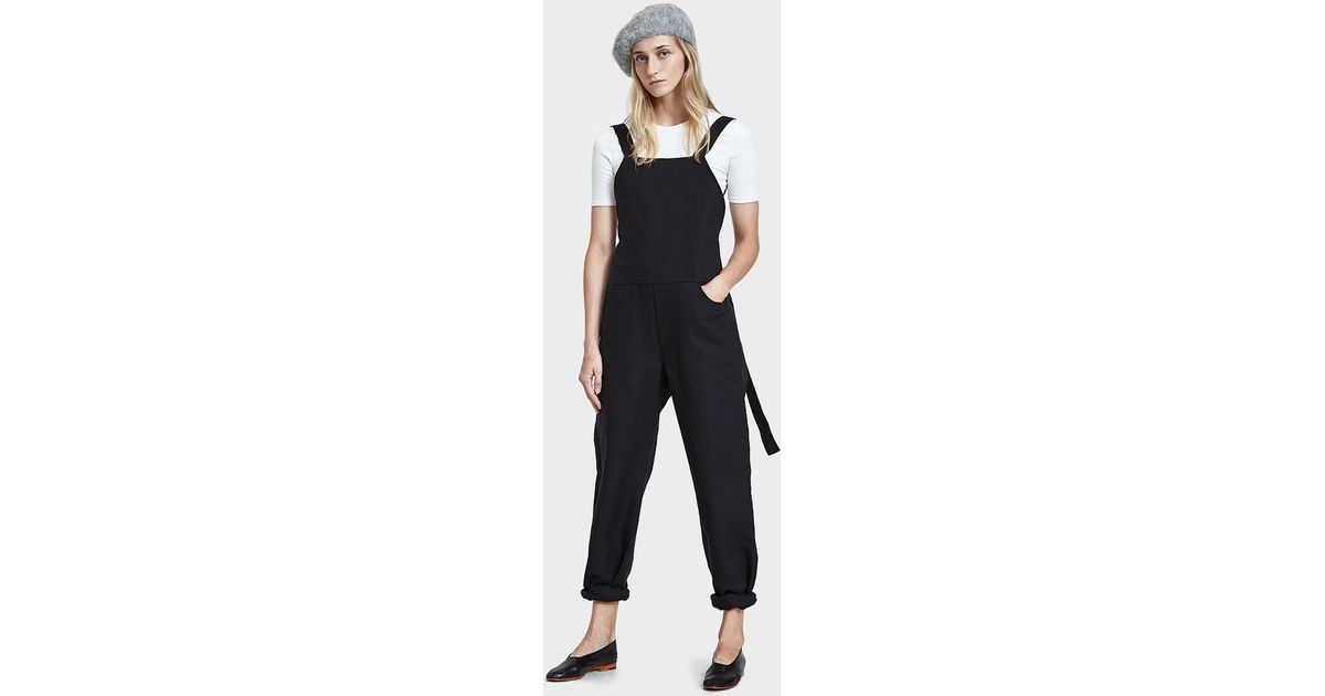 809781db2a Lyst - Baserange Duffy Overall In Black in Black