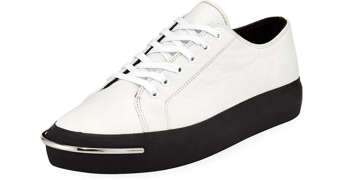 893e7a8b5697 Lyst - Alexander Wang Pia Bar-toe Low-top Sneakers in White