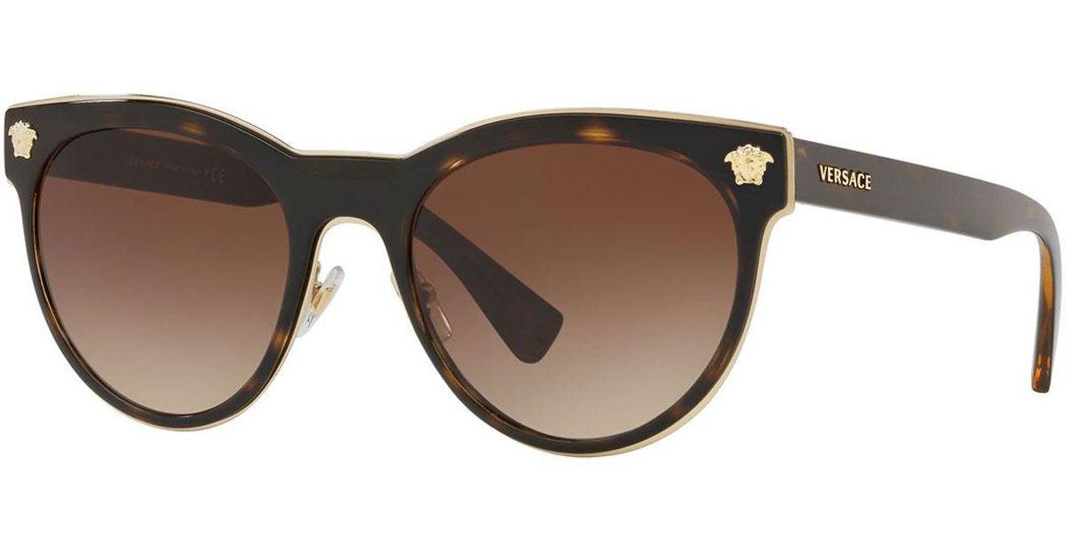 559524170e Lyst - Versace Round Metal Medusa Head Sunglasses in Brown