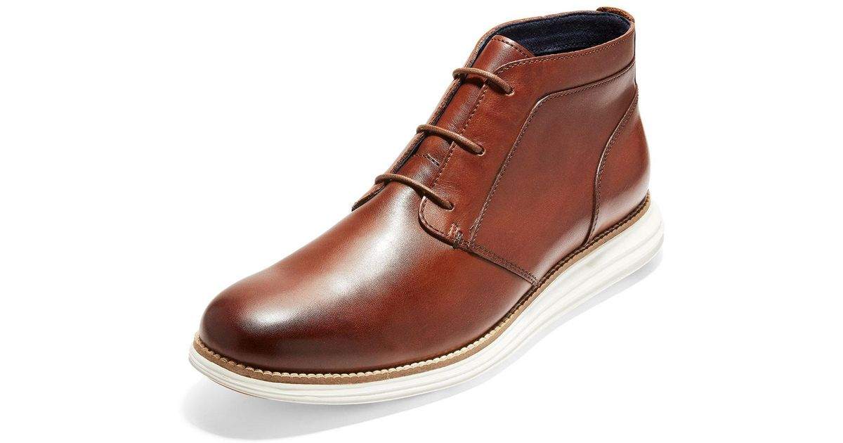 e83b089f9e8 Lyst - Cole Haan Men s Originalgrand Leather Chukka Boots in Brown for Men