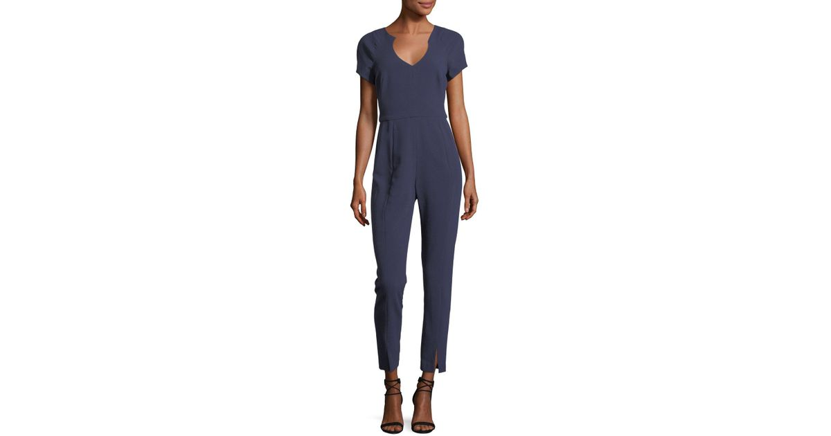4322d02a Black Halo Gypsy Rose Short-sleeve V-neck Jumpsuit in Blue - Lyst