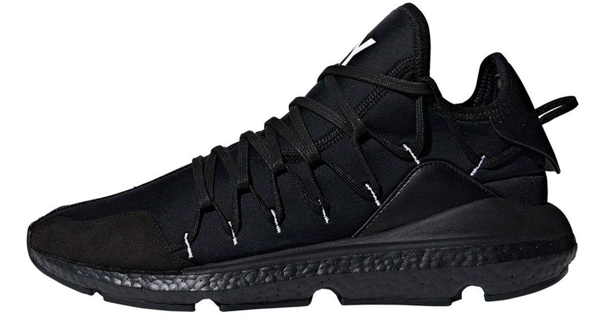5104b32d2 Lyst - Y-3 Men s Kusari Knit Running Sneakers in Black for Men