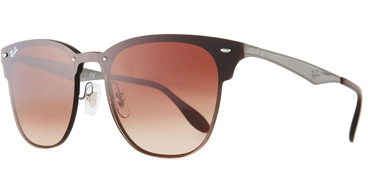 Lyst - Ray-Ban Blaze Clubmaster Lens-over-frame Men\'s Sunglasses in ...