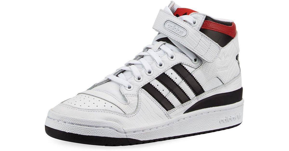 Lyst - adidas Men s Forum Leather Mid-top Sneaker in White for Men f7aa6c8a8