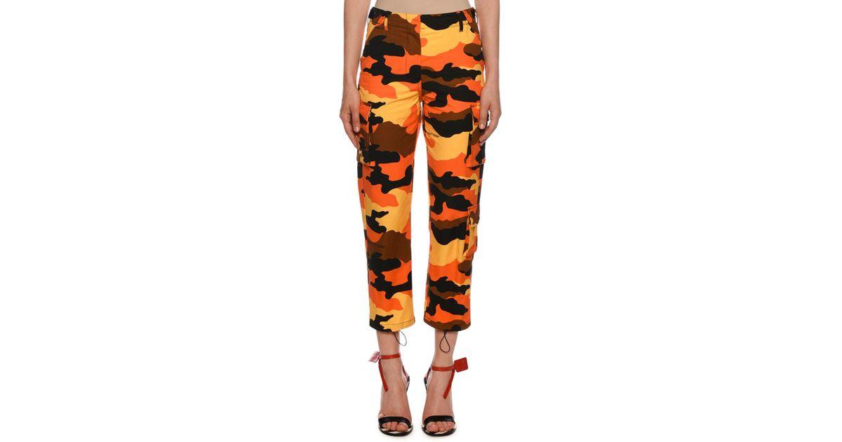 035ec9b36dbd Lyst - Off-White c o Virgil Abloh Orange Camouflage Cargo Trousers in  Orange - Save 27%