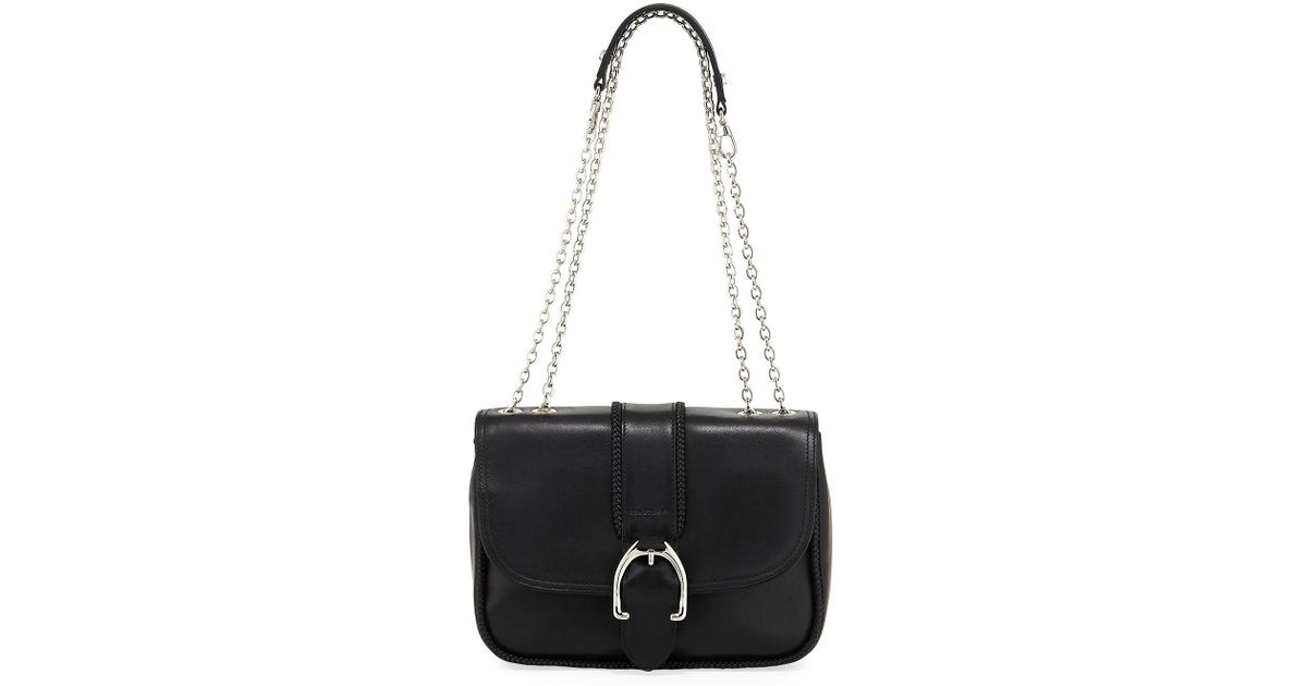 f06ea92f2b11 Lyst - Longchamp Amazone Leather Shoulder Bag in Black