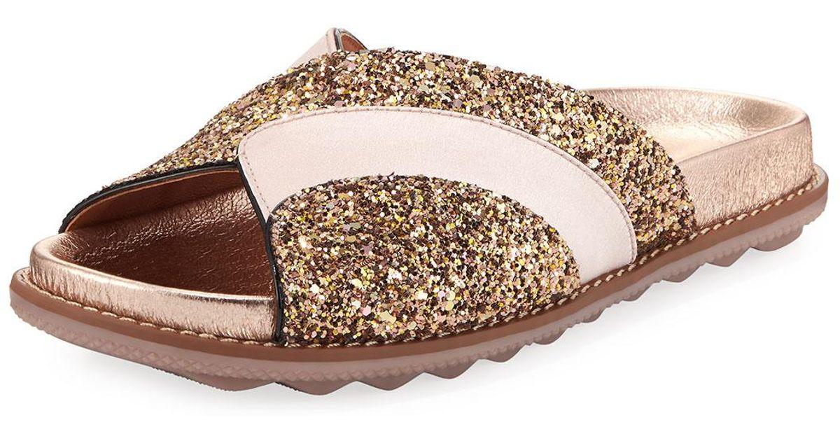 Glitter Lyst Sandals Flat Coach Pool Slide thQrdsC